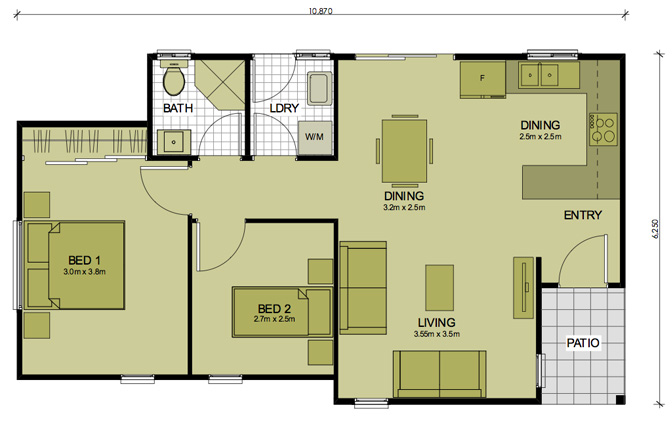 2 Bedroom Rosemeadow Sydney Granny Flats